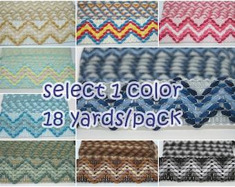 1 pack (18 yards) Boho Ribbon, colorful ribbon, wholesale trim, boho ribbon, bohemian ribbon, boho trim, chevron ribbon, chevron trim,ribbon