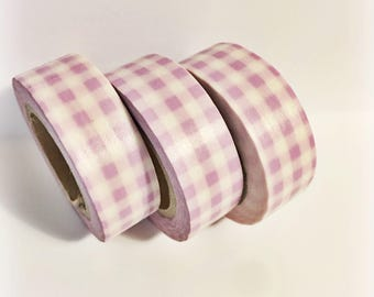 Thick Pastel Purple Plaid Washi Tape 11 yards 10 meters 15mm