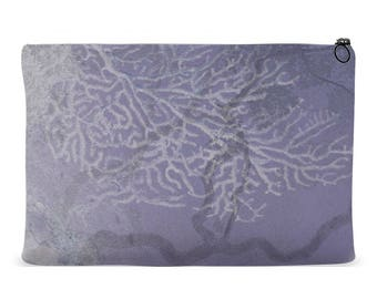 Accessory Pouch Tree Design | Zippered Accessory Bag | Cosmetics Bag | Kindle Pouch | iPad Pouch | Organizer Bag