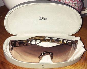 Vintage Christian Dior 90s/Y2K Futuristic Frameless Rhinestone Sunglasses