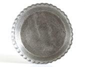 "Vintage Wearever Pie Pans 2865 (10 x 1 3/4"") Wear-Ever Aluminum Pie Plate, Fluted Juice Saver, Food Photography Prop (very worn)"