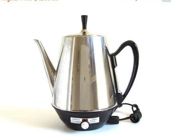 SALE Sunbeam Coffee Percolator AP-AK Electric Coffeepot Vintage Stainless Steel Coffeemaster Small Kitchen Appliances (as-is)
