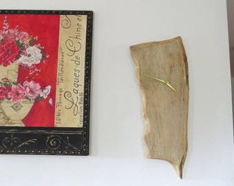 Handmade wooden clock with silent mechanism (No.2)