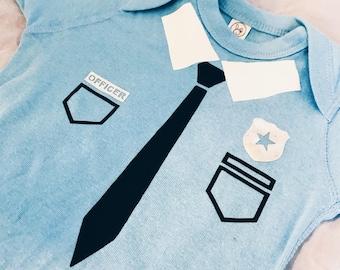 Police Baby Bodysuit - Baby, Toddler, baby shower, halloween onesie, costume onesie, police officer onesie