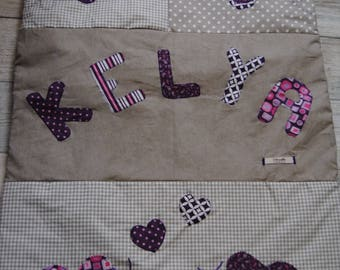 Grey and purple butterflies for Kelya theme baby blanket