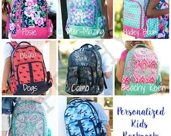 Personalized Kids Backpack, Monogrammed Backpack, Back to school, Kids backpack, girls backpack, boys backpack