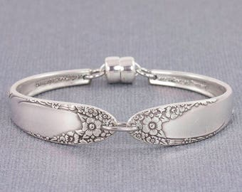 Silverware Bracelet - English Garden 1949 Antique Silverware - Spoon Jewelry