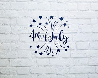 4th of July Fireworks Vinyl Decal