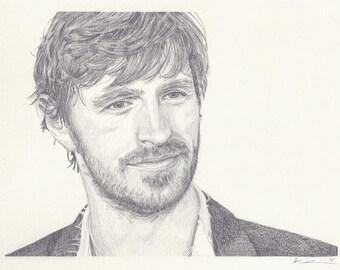 """Eoin Macken Portrait Drawing - 8x10"""" Print"""