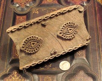 Antique Hand Carved Wood Textile Stamp