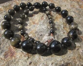 golden Obsidian Necklace