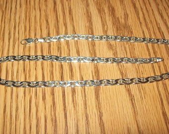 Sterling Silver Milor Italian  Link Chain Necklace- 18 inch