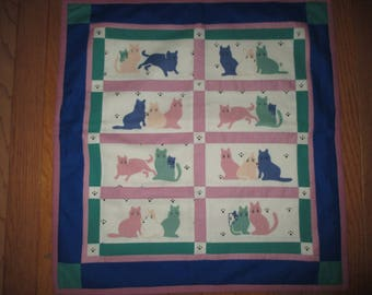 Quilted cats wall hanging