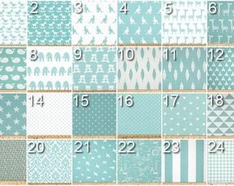 Designer Curtains- Pair of Drapery Panels- Canal Curtains- Aqua Curtains- Custom Drapes- Add Grommets & Lining- Nursery Curtains- Blue Shade