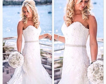 All around bridal sash belt all around bridal sash