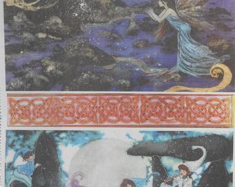 Paper Decoupage Decopatch Collage Sheet Two Celtic Images