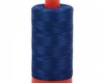 Aurifil Italian Threads-100% Cotton 50wt Piecing and Applique-Large Spool 1422 Yards 2780, Dark Delft Blue