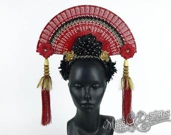 Red Fan Headdress