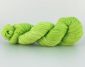 Laine Tricotcolor teinte main handdyedwool teinture laine mérinos vert tricot crochet mercerie fourniture créative fil fibre multicolore
