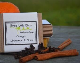 Orange, Cinnamon & Clove Soap, Handmade, All Natural, Cold Process Soap, Vegan