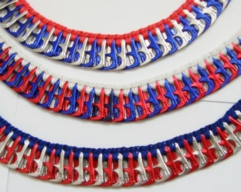 Red, White & Blue Pop Tab Necklace