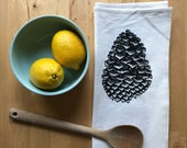 Cone Screen Printed Flour Sack Kitchen Tea Towel