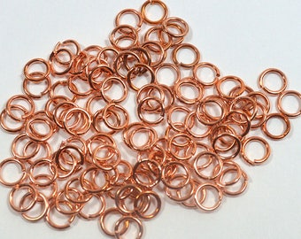 4mm Shiny Copper Jump Rings