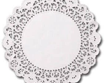 2000 white 4 inch English Paper Doilies, round doilies, plain center doilies, paper coasters, wholesale bulk