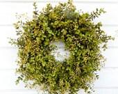 Farmhouse Decor-Fall Wreath-Eucalyptus Wreath-Boxwood Wreath-Housewarming Gift-Door Wreath-Outdoor Wreath-Year Round Wreath-Home Decor-Gifts