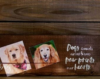 Dogs come into our lives & leaves paw prints in our hearts. Customize your own block set by Ladybug Design by Eu
