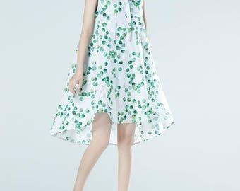 Linen sleeveless asymmetrical dress summer sundress