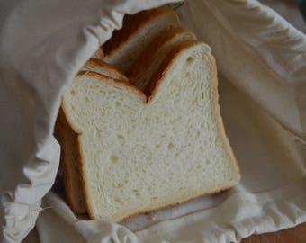 Large Bread Bag Reusable Bag Zero Waste Unbleached Cotton Fabric Natural