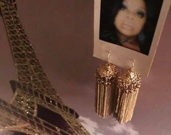Golden Opulent Tassel Earrings