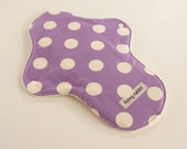 100% Natural Cotton Flannel Cloth Pad  For Heavy Flow  -White Dot on Lilac OR SkyBlue Dot on BabyPink-