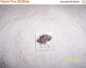 20% OFF VALENTINES SALE Vintage Diamond Cluster ring. Sterling silver.
