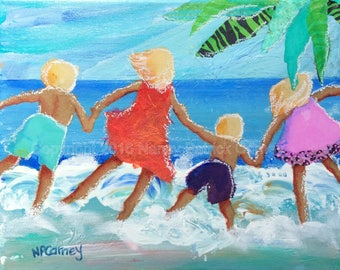 Four Splashing Kids