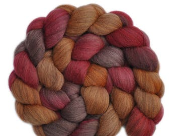 Hand dyed roving - Gray Merino wool combed top spinning fiber - 4.1 ounces - Devil to Pay 2
