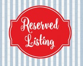 Reserved Listing for Molly