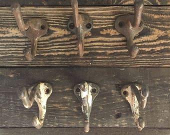 Vintage Coat hooks • vintage brass coat hooks