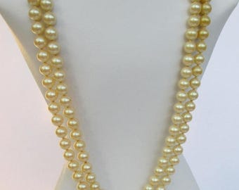 SALE 20% OFF Vintage Double Strand Faux Pearl Necklace