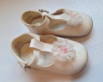 Darling White Vintage Washable Baby Shoes