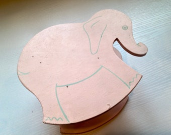 Adorable Vintage Pink Elephant Dolly Chair