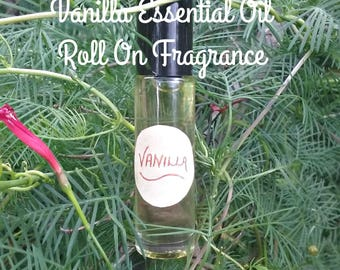 Vanilla Essential Oil Fragrance Roll On - Vanilla Fragrance - Vanilla Essential Oil - Vanilla - Elusive Wolf