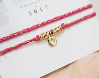 Bracelet coton tressé Lucky Charm // Coton thread braided Lucky Charm bracelet