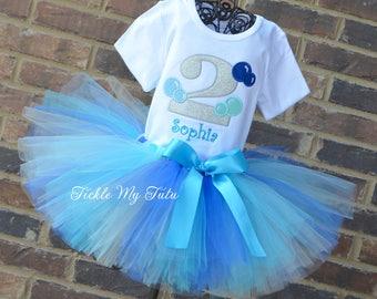 Bubbles Birthday Tutu Outfit-First Birthday Bubbles Outfit-Bubble Themed Birthday Party-Bubble Birthday Tutu Set