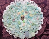 RESERVED Free Shipping Rough Pastel & UV small, medium Large Sea Glass  RP-J11-A