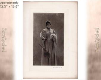 Portrait of Mme P by Charles Sprague Pearce Antique Photogravure Print Goupil Vintage Paper Ephemera ready to frame antique art zyxG5
