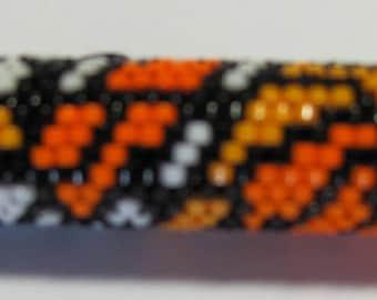 Beautiful hand beaded Monarch Butterfly G2 pen wrap, Pen included
