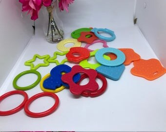Silicone Teether // 21 pc Toy Making Sampler // Handmade Sewing // End of Year // Closeout Sale //Teething Toys Sampler // DIY WINTER