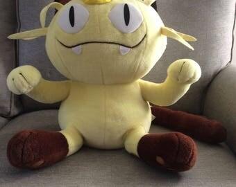 Vintage Jumbo Stuffed Pokemon Meowth